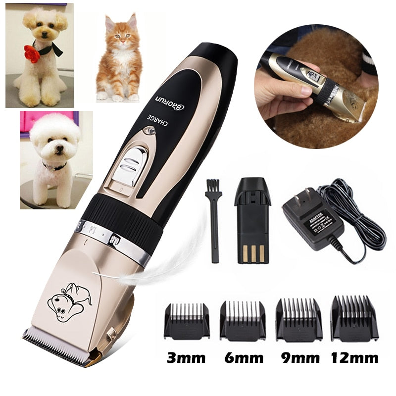 Rechargeable Pet Cat Dog Hair Trimmer