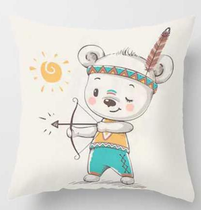Cute Animal Plush Cushion Covers