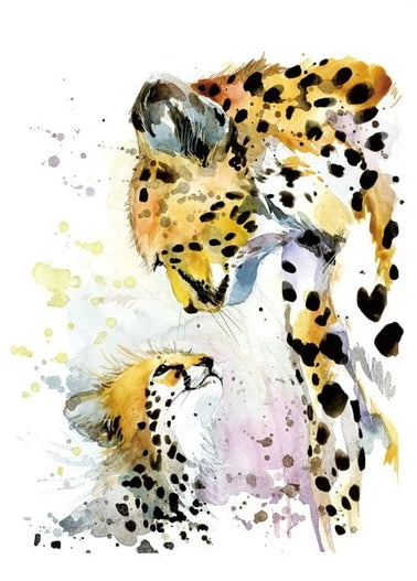 Parent & Baby Watercolour Canvas Print