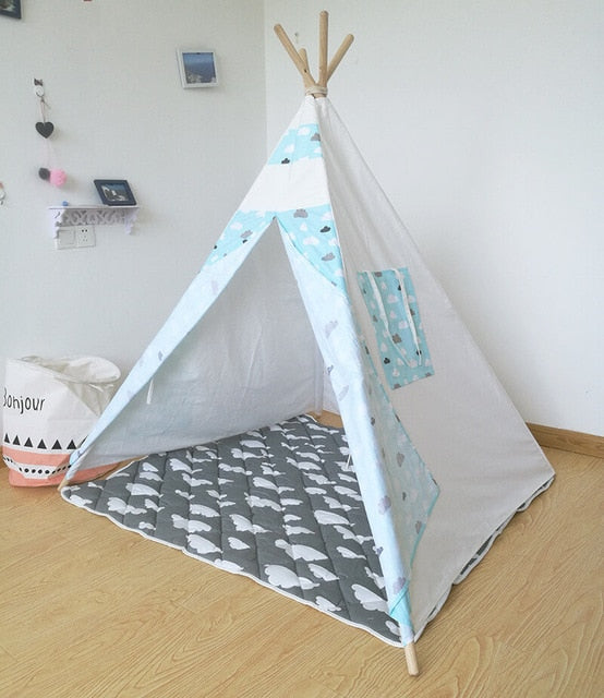 Adventure Time Kids Teepee - Blue Clouds