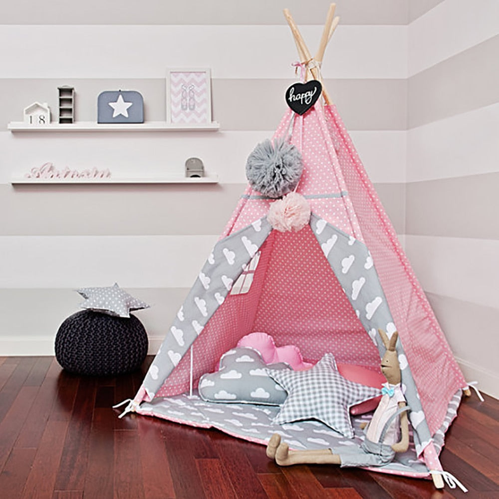 Adventure Time Kids Teepee - Pink Clouds