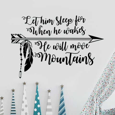 He Will Move Mountains Decal