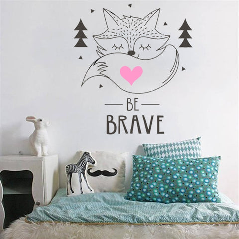 Be Brave Little Fox Decal