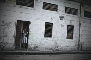 Cuba In Waiting Woman Behind Bars