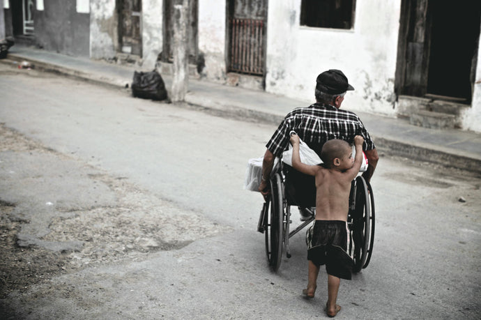 Cuba In Waiting Boy and Wheelchair