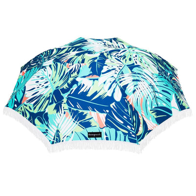BOTANICA TROPICAL PRINT WITH FRINGE BEACH UMBRELLA