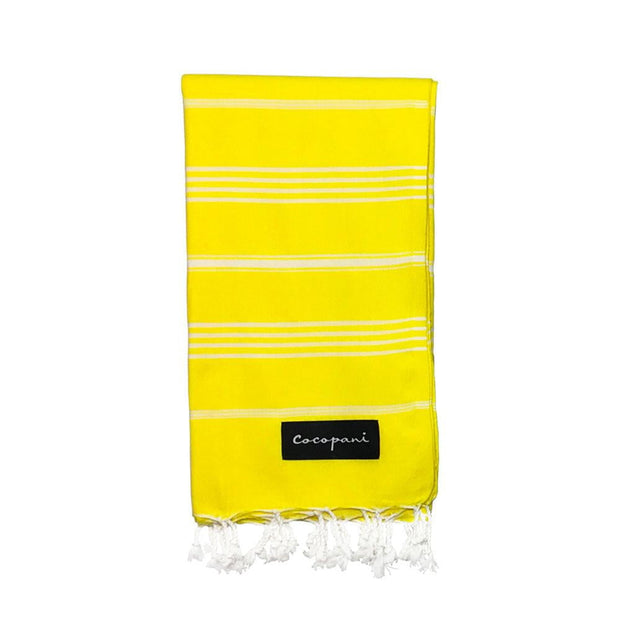 OCTAVIA Yellow Beach Towel