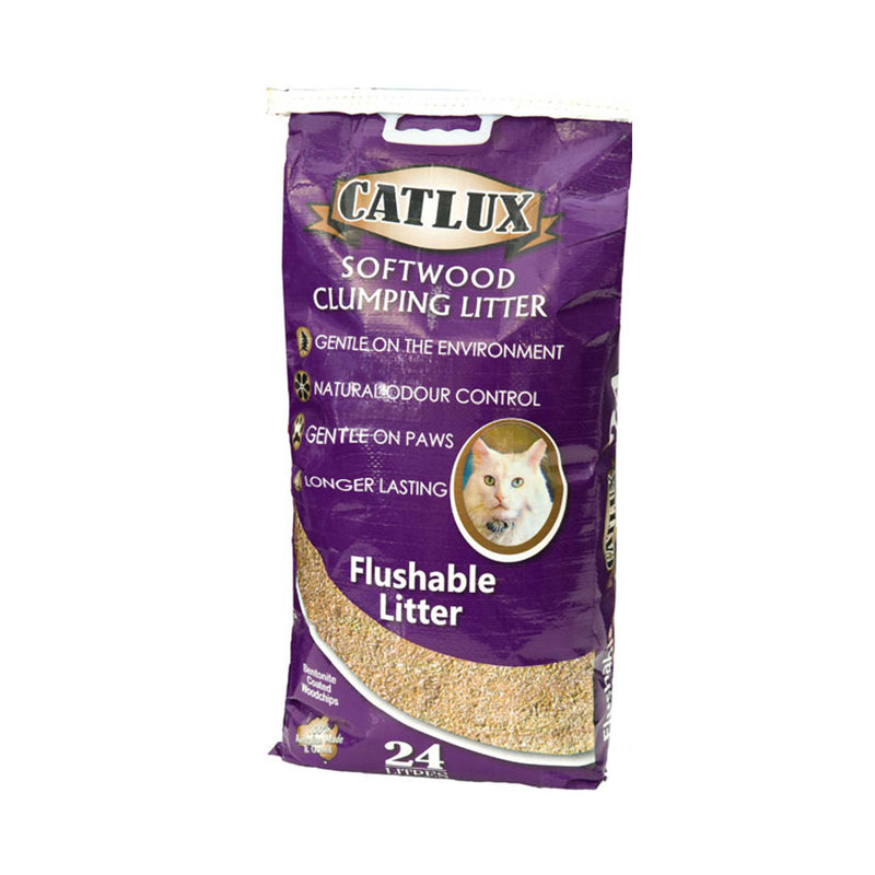 Catlux Softwood Clumping Cat Litter 24 Litres