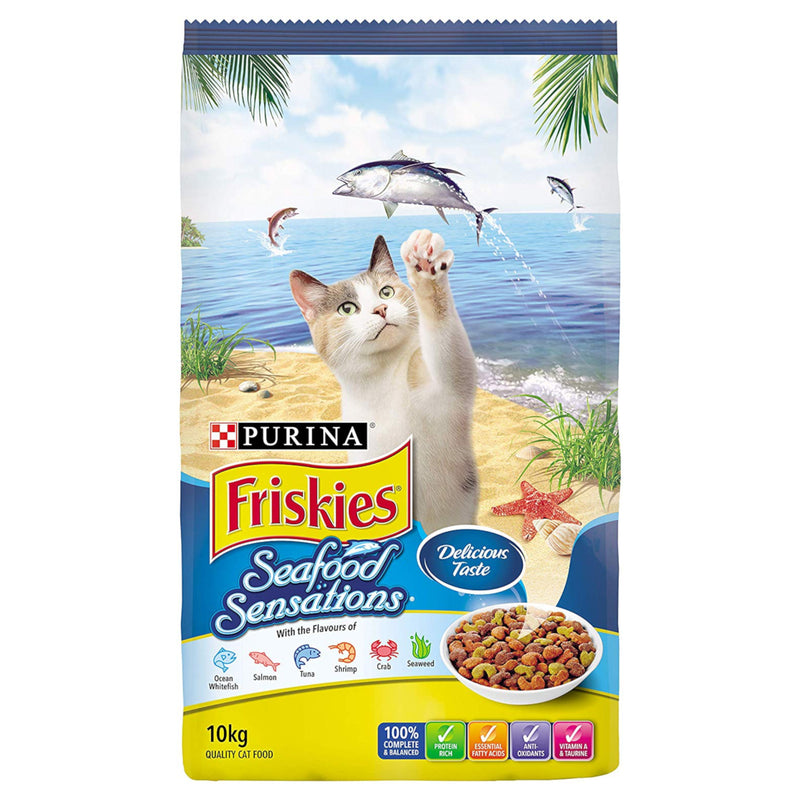 Friskies Seafood Sensations Adult Dry Cat Food 10kg