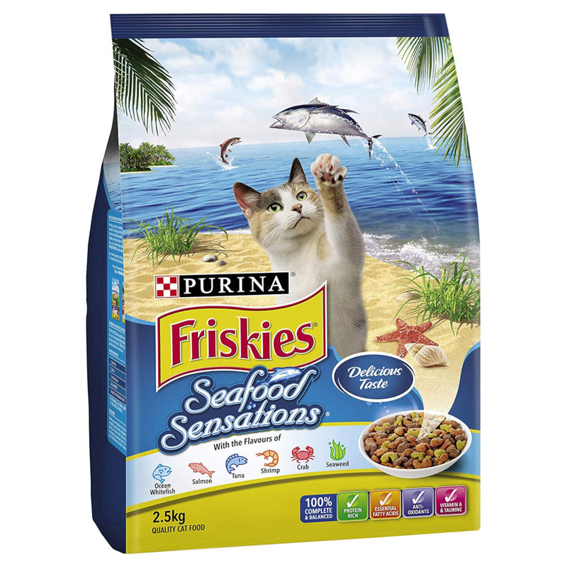 Friskies Seafood Sensations Dry Cat Food 2.5kg