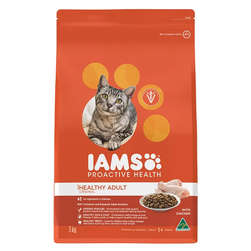 Iams Chicken Healthy Adult Dry Cat Food 3kg
