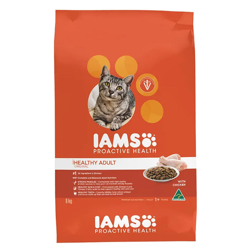 Iams Chicken Healthy Adult Dry Cat Food 8kg