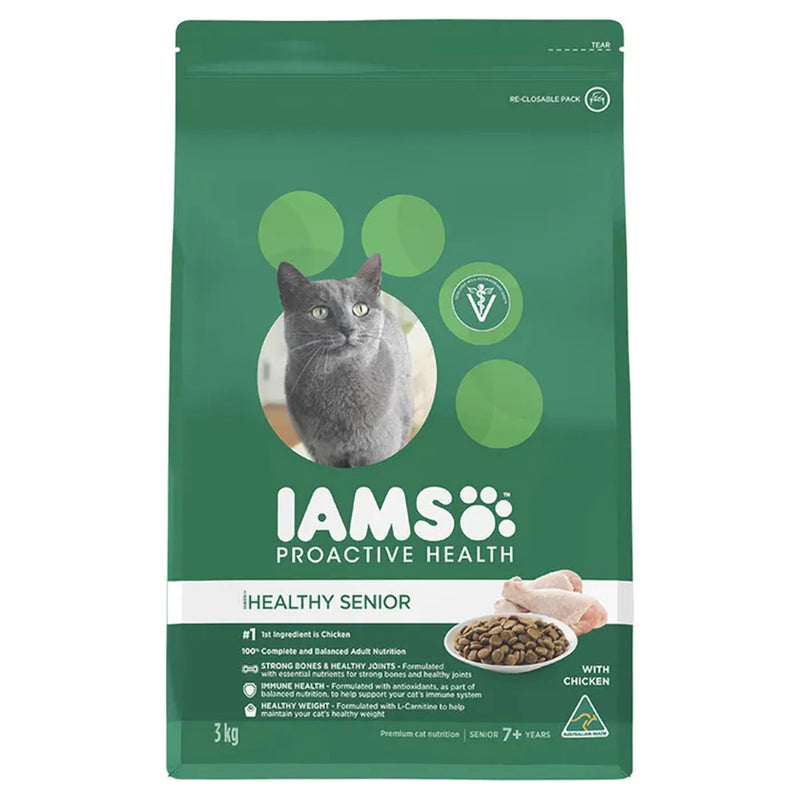 Iams Chicken Mature Senior Dry Cat Food 3kg
