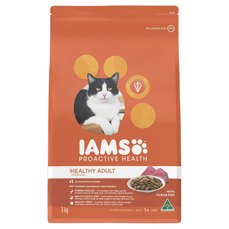 Iams Wild Ocean Fish & Chicken Dry Cat Food 3kg