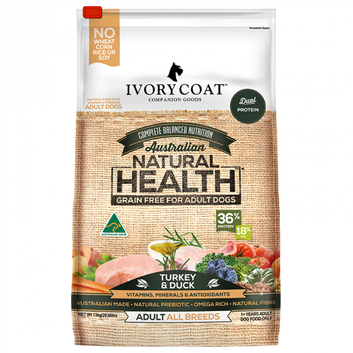 Ivory Coat Grain Free Turkey and Duck Adult Dog Food 13kg