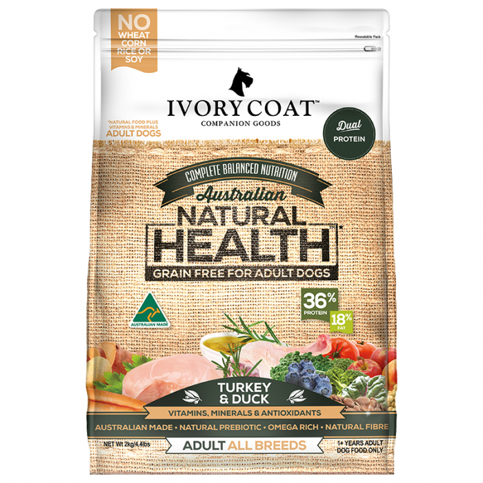 Ivory Coat Grain Free Turkey and Duck Adult Dog Food 2kg