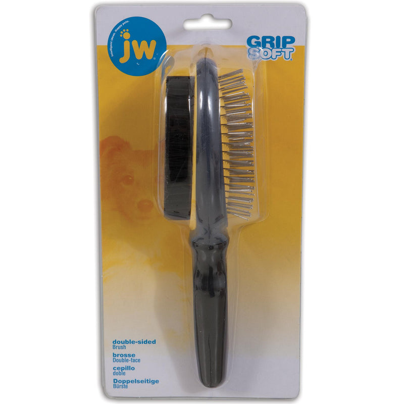 JW Gripsoft Double Sided Dog Grooming Brush