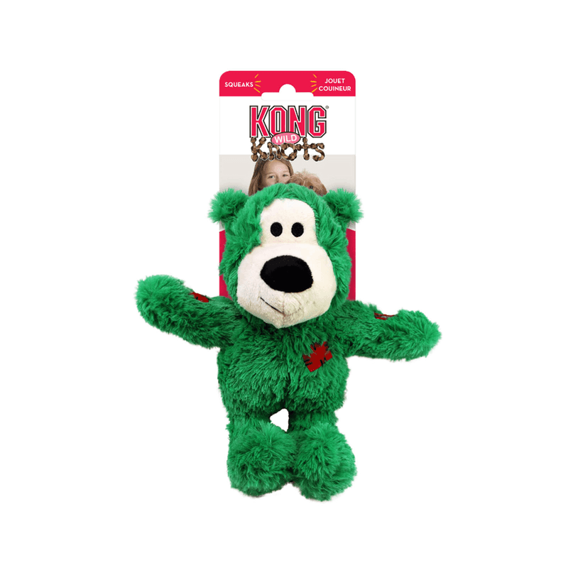 Kong Holiday Wild Knots Bear, Plush Dog Toy