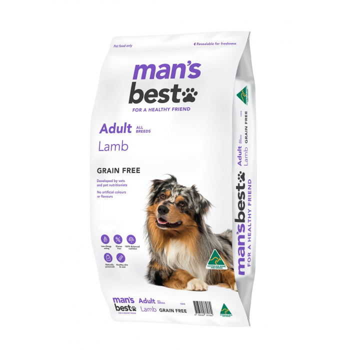 Man's Best Grain Free Lamb Adult Dry Dog Food 12kg
