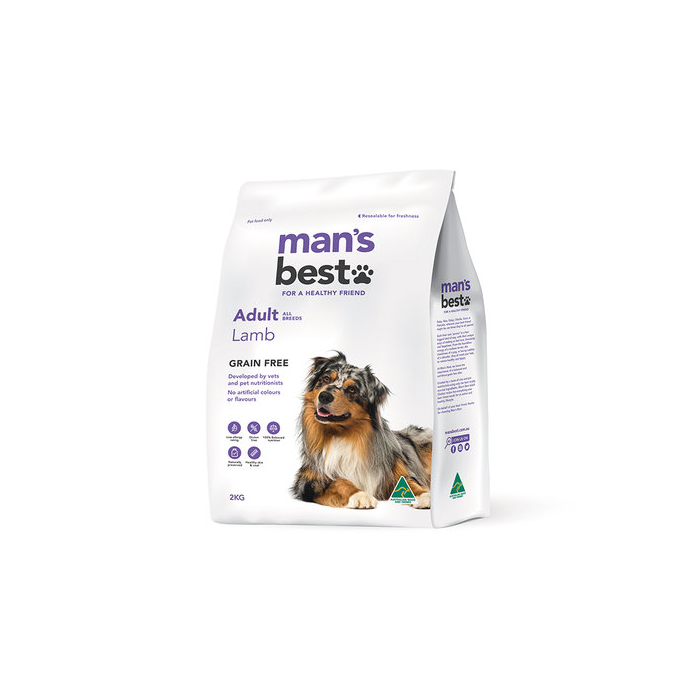 Man's Best Grain Free Lamb Adult Dry Dog Food 2kg