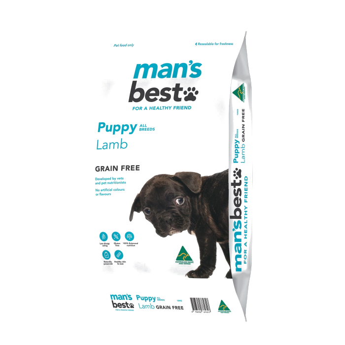 Man's Best Grain Free Lamb Puppy Food All Breeds 12kg