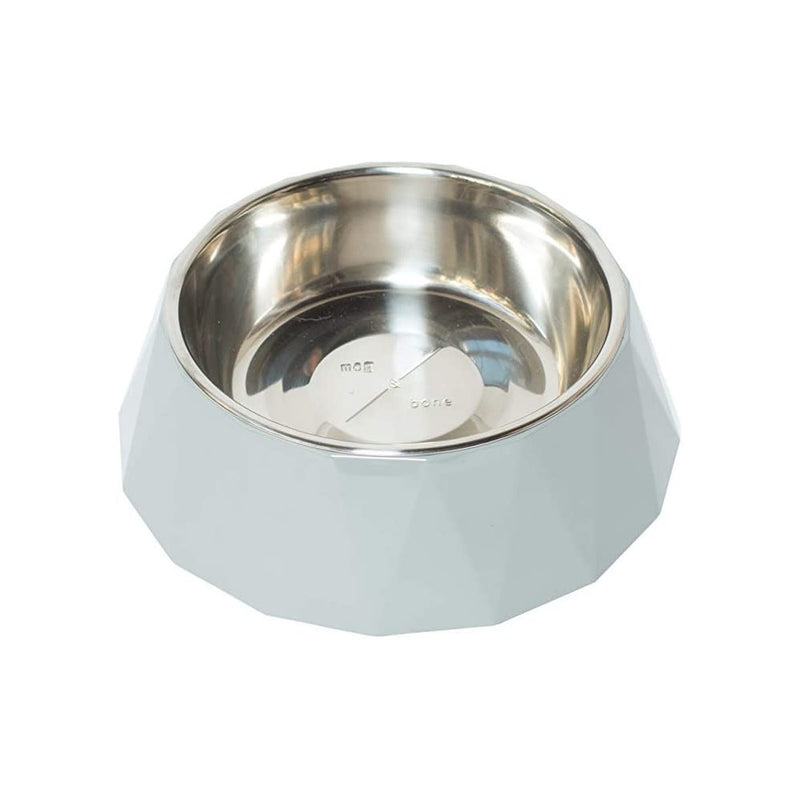 Mog and Bone Designer Melamine Dog Bowl Cool Grey