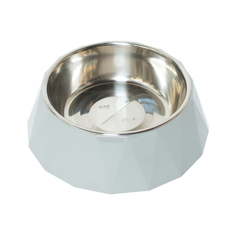 Mog and Bone Designer Melamine Cat Bowl Cool Grey