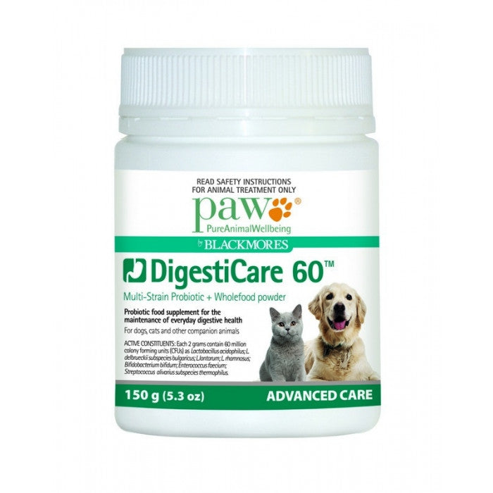 PAW DigestiCare 60 Multi-Strain Probiotic for Pets
