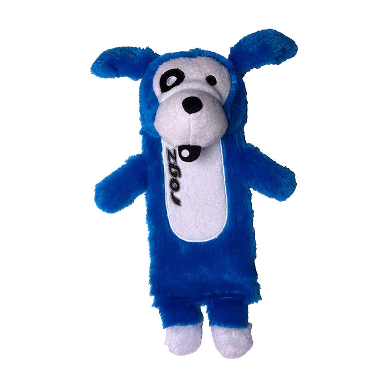 Rogz Thinz Fun-Filled Plush Dog Toy Blue