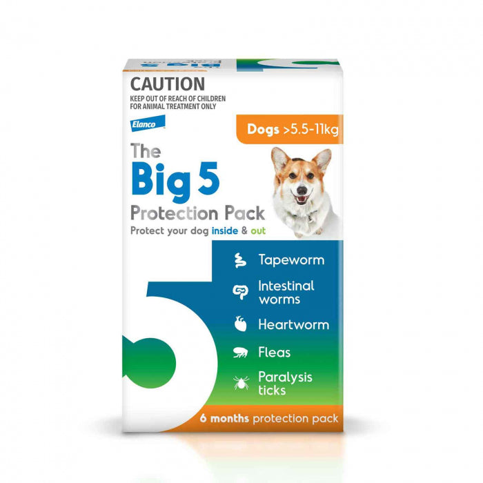 The Big 5 Protection Pack for Dogs 5.5kg-11kg