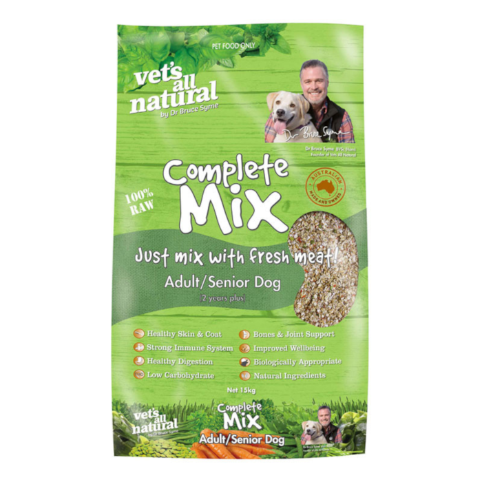 Vets All Natural Complete Raw Mix Adult/Senior Dog 15kg