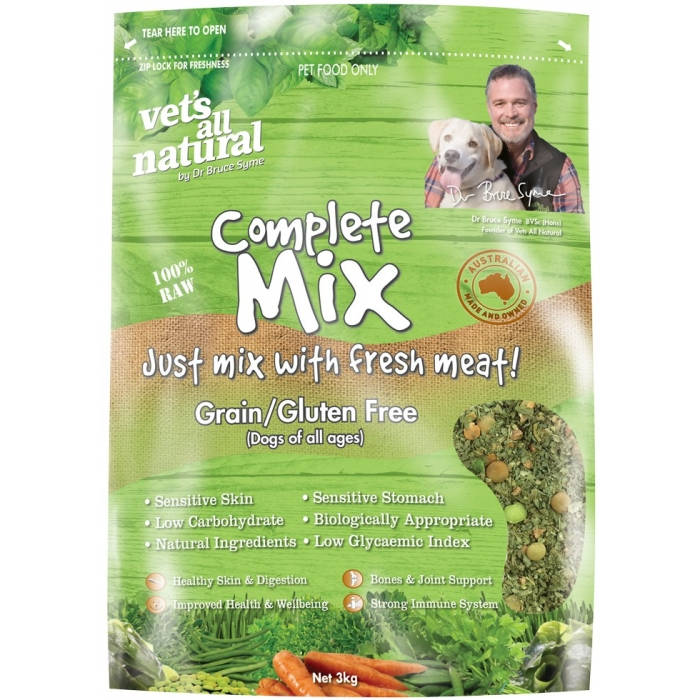 Vets All Natural Complete Mix Grain Gluten Free Dog Food 3kg