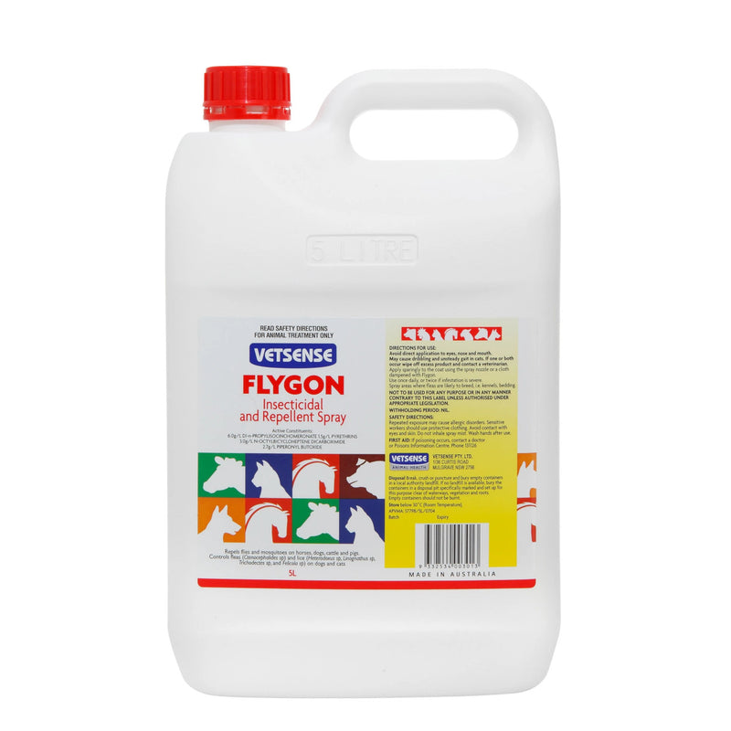 Vetsense Flygon Insecticidal and Repellent Spray 5 Litre