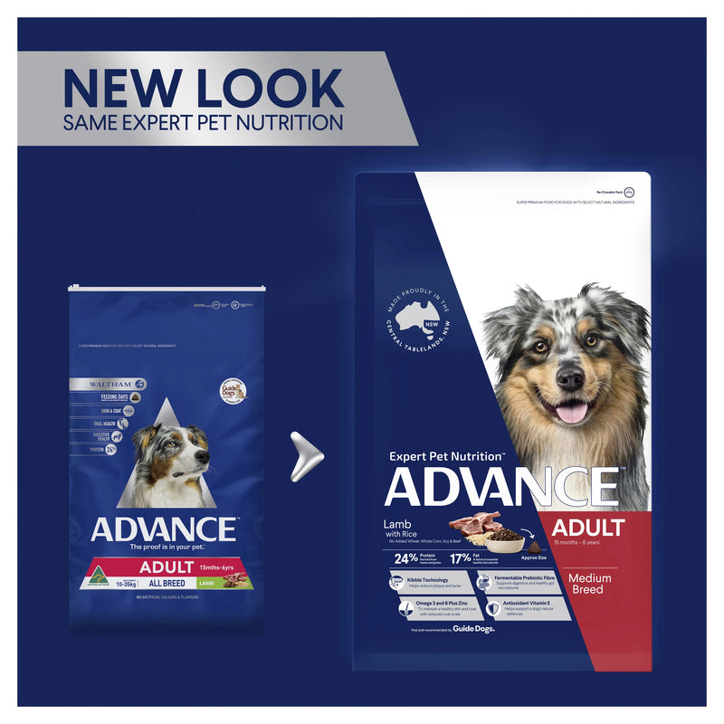 Advance Adult Medium Breed Lamb Dry Dog Food - New Look