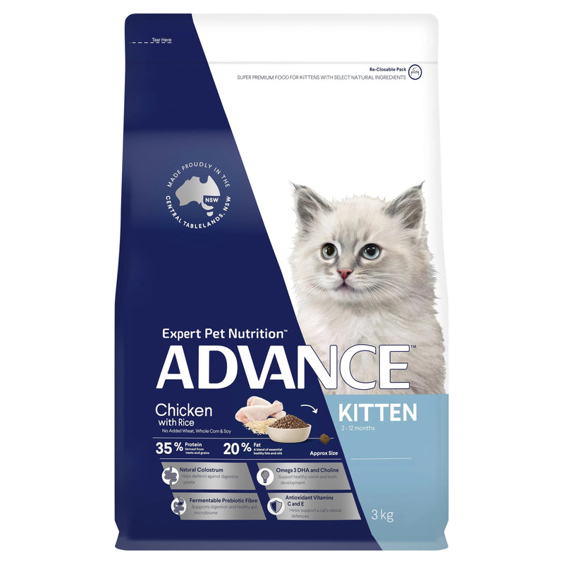 Advance Kitten Dry Cat Food Chicken with Rice - 3kg