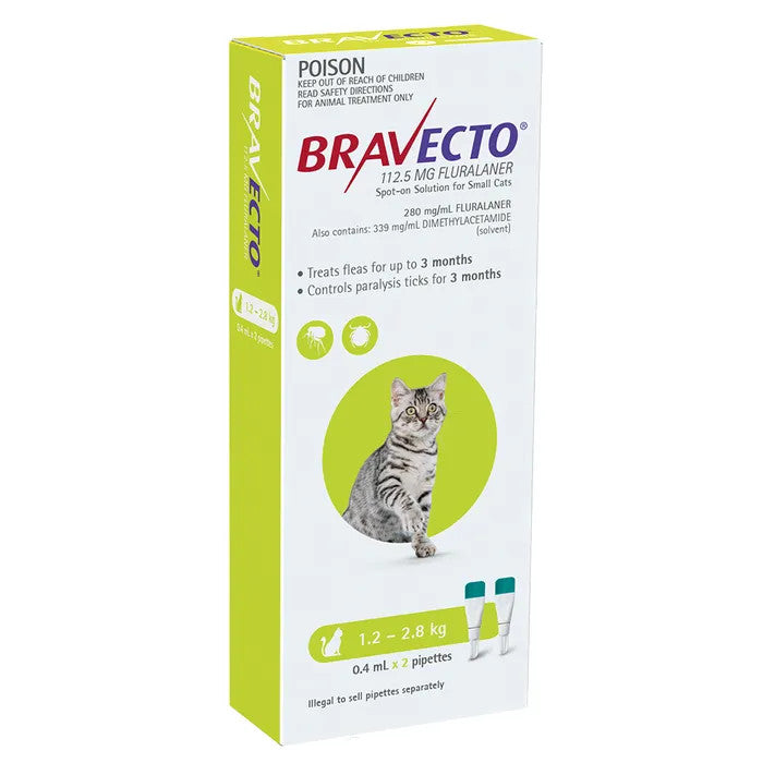 Bravecto Spot On For Cats 1.2 - 2.8kg