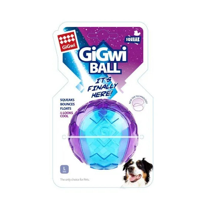GiGwi Ball Interactive Fetch Dog Toy - Large, 1 Pack