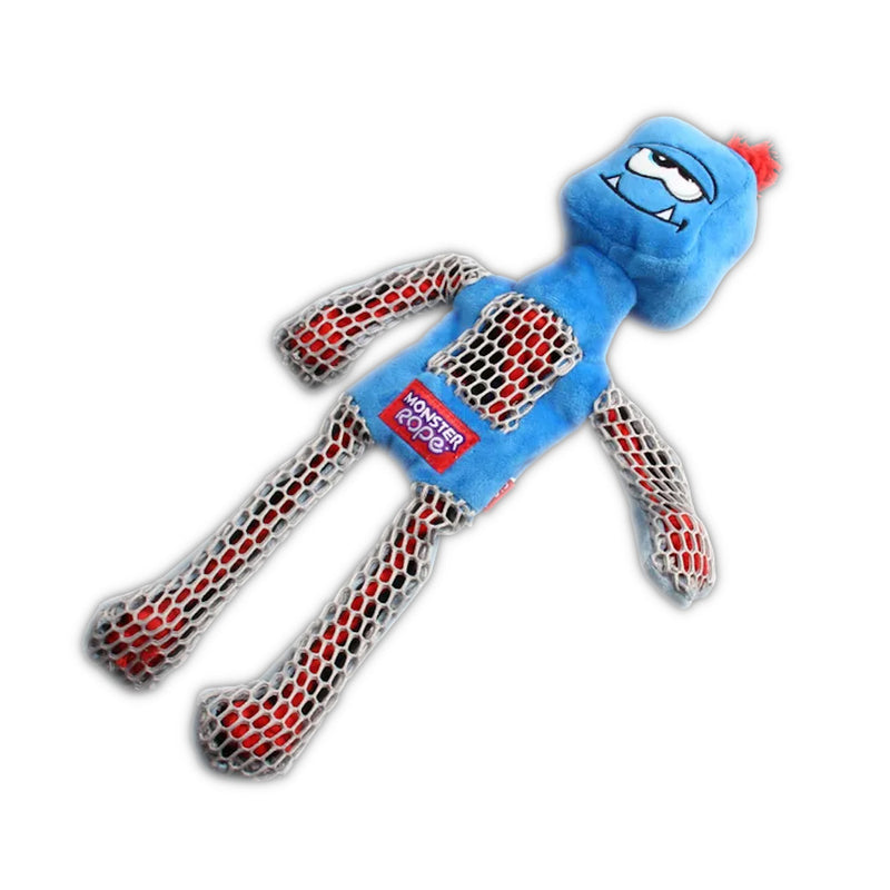 Gigwi Monster Rope Squeaker Blue Dog Toy