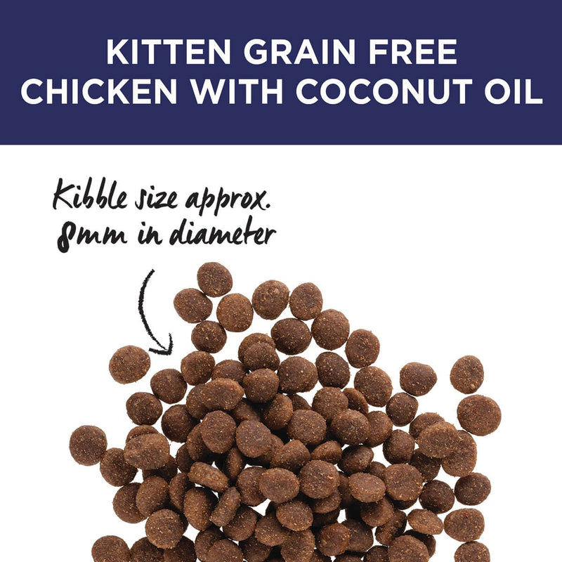 Ivory Coat Chicken with Coconut Oil Dry Kitten Food - Kibble Size.
