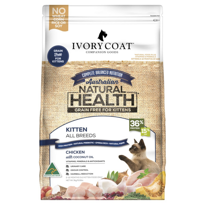 Ivory Coat Chicken with Coconut Oil Dry Kitten Food 3kg