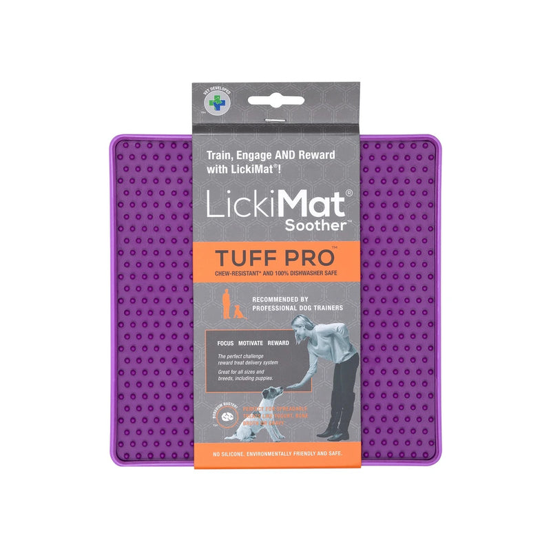 LickiMat Soother Tuff Pro Purple - LickiMat Australia