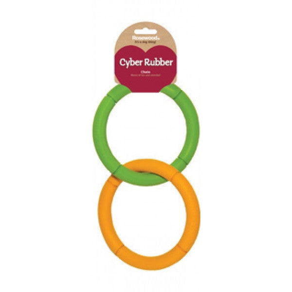 Rosewood Cyber Rubber Chain Dog Toy