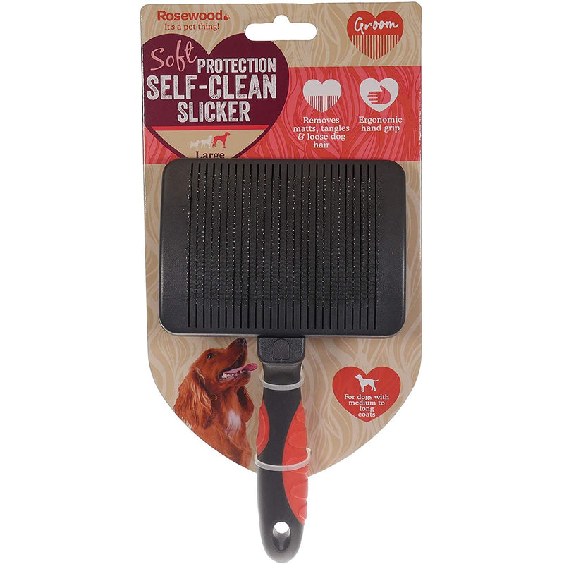 Rosewood Self Cleaning Slicker Brush - Large
