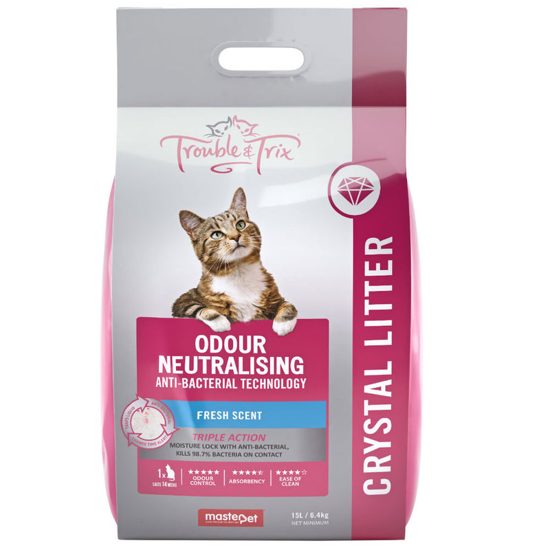 Trouble & Trix Crystal Cat Litter - Anti Bacterial
