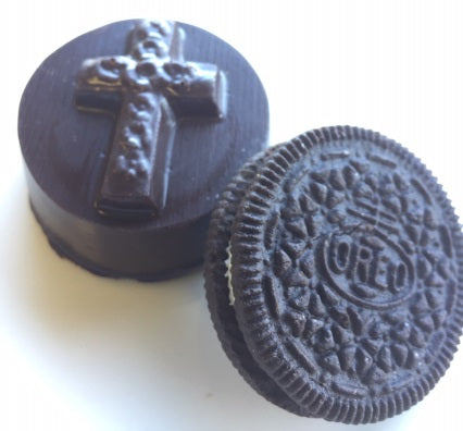 Chocolate Covered Oreo, Embossed Cross