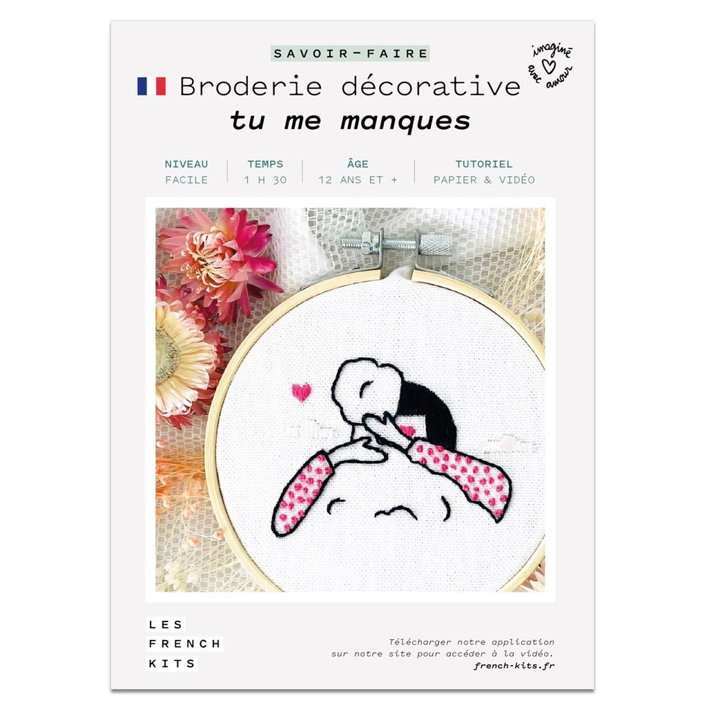 Kit Broderie - Tu me manques