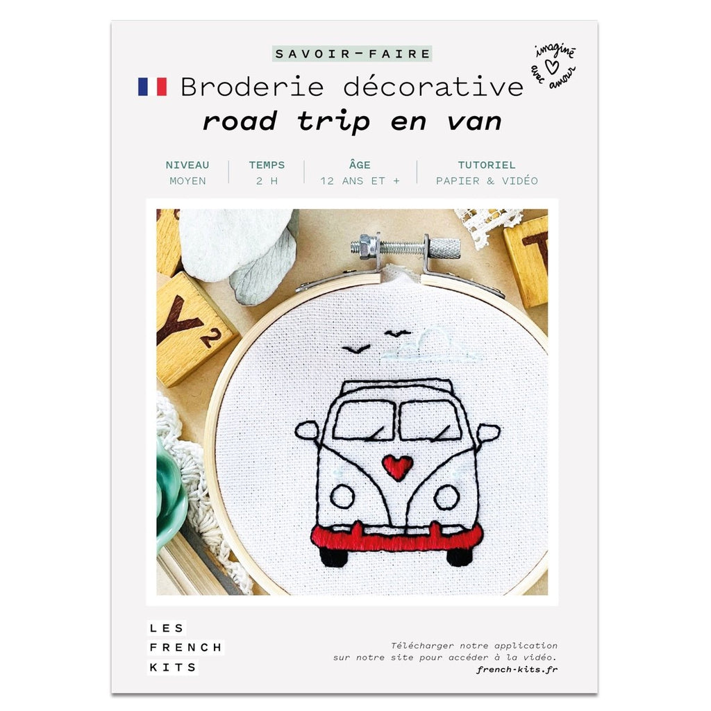 Kit Broderie - Road trip en van