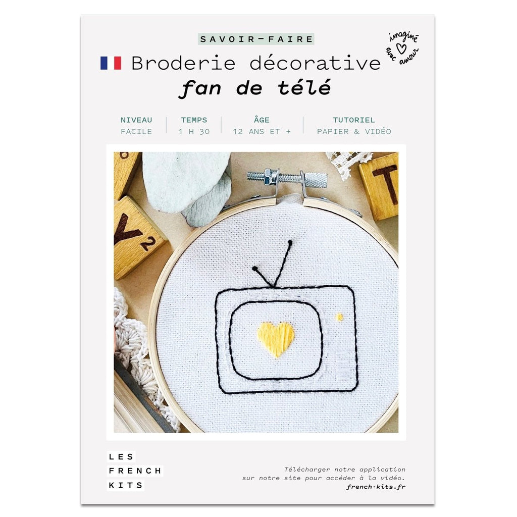 Kit Broderie - Fan de tv