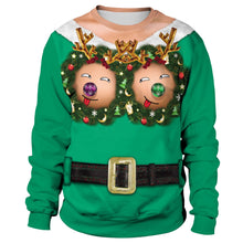 Load image into Gallery viewer, Fun Boobs Print Women Ugly Christmas Long Sleeve Sweatshirt Sweater