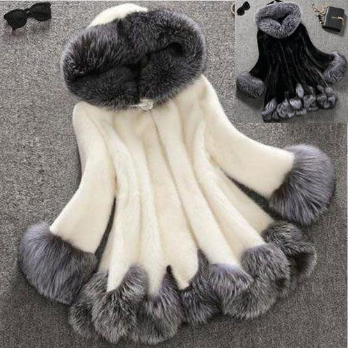 Faux Fur Luxury Women's Winter Coat